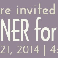You're Invited to a Dinner for 8-ish!  June 21, 2014, 4:45pm