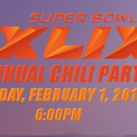Join in Our Annual Chili Party – Sunday, February 1, 2015 – 6:00pm