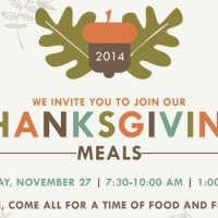 Join us for Thanksgiving Breakfast or Lunch – Nov 27, 2014