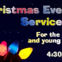 A Christmas Eve Service for the Young at Heart – 4:30pm