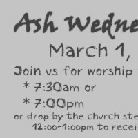 Ash Wednesday Worship – March 1, 2017