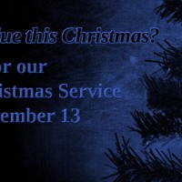 Blue Christmas Service – Wed, Dec 13, 2017 – 7:00pm